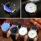 2019 Men's Wrist Watch Luxury Classic Faux Leather Strap Quartz Analog Business image
