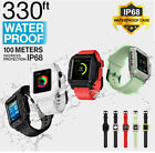 IP68 Waterproof Full Body Rugged Soft Band Case For Apple Watch Series 4 3 2 image