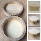 Retro Round/Oval Wooden Box Jewellery Sundries Storage Case Unpainted With Lock