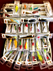 Set of 10 Random Bass Trout Walleye Minnow Lures Freshwater bait Fishing Hooks