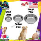Dog Food Bowl Cat Pet Small Medium Large Big Stainless Steel Water Food Portable