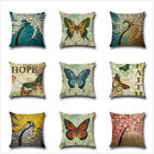Cotton Linen Cover Square Pillow Case Home Decorative Throw Sofa Waist Cushion D