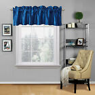 """NEW 1PC SATIN STRAIGHT VALANCE WINDOW CURTAIN TOPPER SOLID COLORS 54"""" W X 18"""" L"""