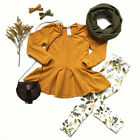 US Kids Baby Girls Outfit Solid Tops Pants Set Toddler Spring Clothes Tracksuit