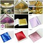 50/100sheets Imitation Gold Silver Copper Leaf Foil Paper Gilding Craft Sheets H