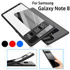 For Samsung Galaxy Note 8 Hybrid Shockproof Clear Ultra-Thin TPU+PC Case Cover