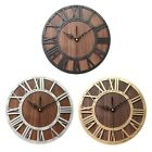Wall Clock Modern Design Mechanism Vintage Digital Metal European Wooden Ro A2R1