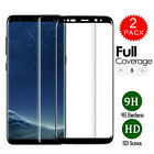 2 Pack Full Tempered Glass Screen Protector For Samsung S6 S7 Edge S8 S9 Plus