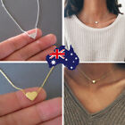 18k Gold Plated Chain With Tiny Love Heart Pendant Choker Necklace