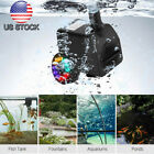 Submersible Water Pump with 12 LED Lights for Fountain Pool Garden Pond Fish
