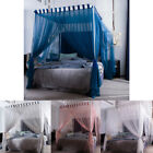 4 Corners Post Curtain Bed Canopy Bed Frame Canopies Net Twin Full Queen King image