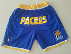New Men's Indiana Pacers just don basketball pants shorts retro mesh blue on eBay