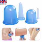 4pcs/set Silicone Anti Cellulite Massage Vacuum Cupping Body Facial Cups Therapy