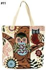 NWT Reusable Owl Cat Tapestry Tote Market Shopping Bags