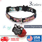 Kyпить Personalized Cat Adjustable Collar Name for Pet Kitten with Engraved ID Tag  на еВаy.соm