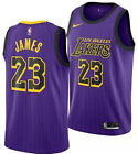 LeBron James LBJ Los Angeles Lakers Purple Mens Basketball Jersey Size S M L XL on eBay