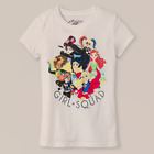 Girls DC Super Hero Short Sleeve T Shirt Girl Squad Tee Wonder Woman NEW