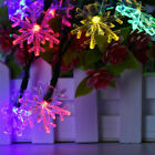 Solar Powered 30LED Snowflake String Fairy Light Outdoor Xmas Party Garden Decor