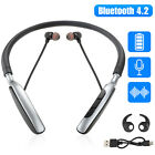 Bluetooth Wireless Neckband Headset Earbuds Magnetic Headphone Support U Disk US
