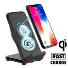 Fast Qi Wireless Charger Charging Stand Dock for Samsung Galaxy Note 8 iPhone X