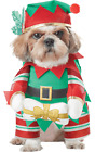 Pet Dog Christmas Walking Elf Festive Clothes Fancy Dress Costume Outfit  XS-L