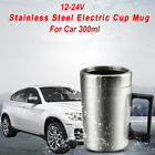 Car Electric Travel Mug Stainless Steel 12/24V Heating Cup Coffee Water Kettle