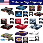 Skin Cover Decal for Sony Playstation Original PS4 Console +2 Controller Sticker
