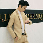 Mens Formal Suit Blazer Coat Business Casual One Button Slim Fit Jacket Tops