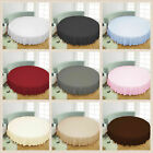 "1 PC Round Bed Skirt 1000 Thread Count Egyptian Cotton 96"" Diameter Solid Colors image"