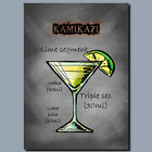 DRINKS AND COCKTAILS Metal Poster Wall Art KAMIKAZE