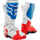 Neuf Bottes Motocross Fox Racing 180 Blanc Bleu Rouge Moto Supermoto Enduro