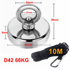 66kg Pull Salvage Strong Recovery Treasure Neodymium with Rope Magnet Fishing UK