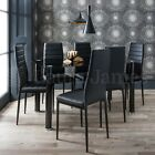 Glass Dining Table and Chairs Set 6 Seater