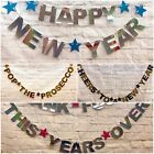 Happy New Years eve banners 2020 party decorations bunting gold silver