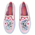 Irregular Choice 'Flopsy In Love' (A) Pink / White Flat Slip On Shoes