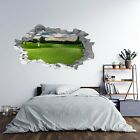 Golf Course Theme 3D Hole in The Wall Effect B Self Adhesive Wall Decal Art S...