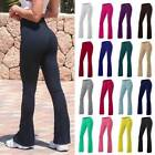 Women Bootcut Yoga Pants Bootleg Flared Trousers Uncertain Fitness Stretch Sports O