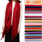 Womens Mens 100 Cashmere Scotland Oversized Blanket Wool Scarf Shawl Wrap Solid