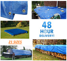 Tarpaulin Blue Waterproof Cover Tarp Ground Camping Sheet Multipurpose Furniture