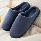 ♕Mens Womens Clog Slippers Slip On Plush Soft Mule Winter Warm Home Indoor Shoes