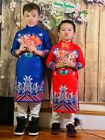 AO DAI FOR BOY BIG SIZE (FREE PACKET OF 6  RED ENVELOPES )
