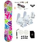 Sionyx Hearts Snowboard +Bindings Package women's Leash+Stomp+Shades+ Roxy dcal
