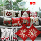"New Christmas Decorative Cushion Cover 18 x 18"" Pillow Case Stunning Colours image"