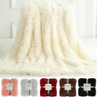 Plush Faux Fur Throw Blanket Reversible Fluffy Fleece Shaggy Cover Soft Warm  image