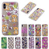 Slim Pattern Painted Soft Rubber Clear Case Cover For iPhone XS Max/XR/7/8/6s+