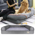 Orthopedic Dog Bed Extra Large Sofa Bed Rich Form Faux Fur XL Waterproof Pet Bed