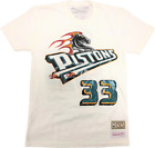 Mitchell & Ness White Detroit Pistons #33 Grant Hill T-Shirt