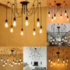Retro Industrial Hanging Light Lamp DIY Spider Chandelier Ceiling Pendant Lights