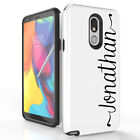 For LG Stylo 5,LG Escape Plus Personalize Custom Name HYBRID ARMOR Case Cover