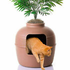 Planter Cat Litter Box Kitty Hidden Decorative Planter Clay Pot Furniture Safe